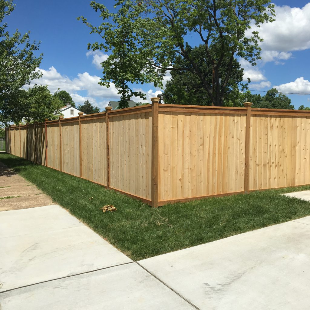 6' Cedar Framed Fence with Newport caps